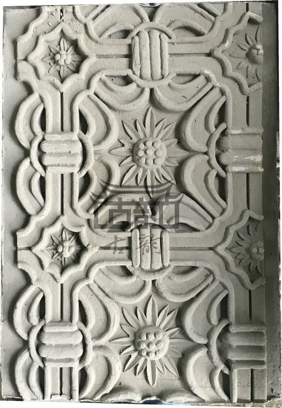 鑫华古韵砖雕--砖雕花板-葵花万字砖雕